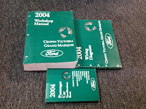 2004 FORD Crown Victoria & Grand Marquis Service Shop Manual Set W EWD & Specifications