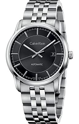 Calvin Klein Infinity Black Dial Automatic Mens Watch K5S34141