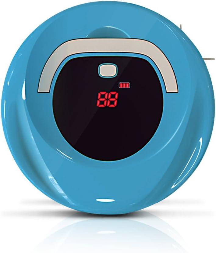 Robot aspirador, aspirador robot ideal para pelo de animales, alérgicos, suelos duros, alfombras planas, azulejos, madera dura, laminado y más con 90 minutos de funcionamiento --- 1 Generation C Blue: Amazon.es: Hogar