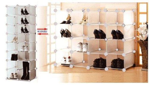 Ordinaire BlueBoxInnovations Interlocking Shoe Organiser Modular Shoe Rack Shoe Shelf  For 16 Pairs: Amazon.co.uk: Kitchen U0026 Home