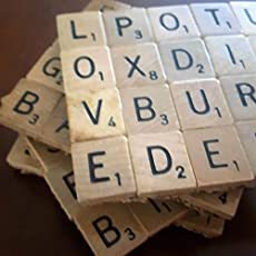 scrabble drink coasters with 14 inch cork backing