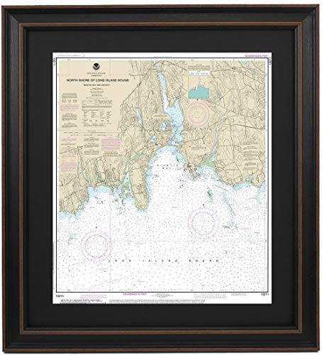 Patriot Gear Company | Framed Nautical Map 13211 : North Shore Long Island Sound; Niantic Bay and Vicinity- Poster Size