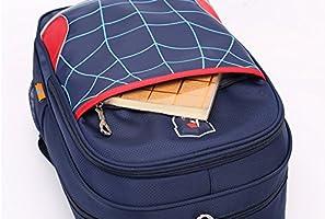 SCHOOL BOOK BAG with Reflectors Boys Girls Childrens Kids Navy Royal Red Bottle