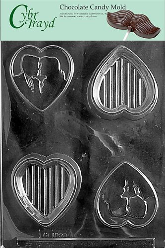 (Cybrtrayd W048 Silhouette Lover Pour Box Wedding Chocolate Candy Mold)