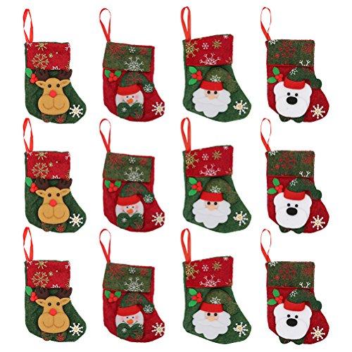Name Christmas Gift Bag (Christmas Stockings 12pcs Gift Treat Bag, for Favors and Decorating Stockings Christmas Decoration)