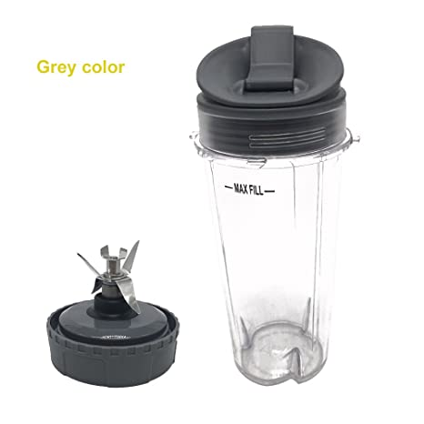 1 set with 3piece Replacement Parts for Nutri Ninja Blender, Pushingbest Replacement Bottom Blade Assembly for Nutri Ninja for BL660 & BL740