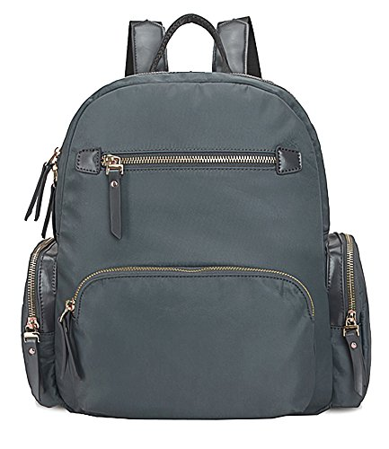 Big Handbag Shop - Bolso mochila de tela para mujer Design 1 - Grey