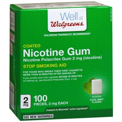 Walgreens Coated Nicotine Polacrilex Gum 2mg, Cool Mint 100 (Prescription Nicotine Patch)