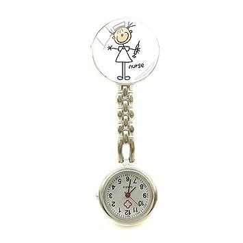nurse angel Reloj de Bolsillo de Mesa de Enfermera, Reloj de Enfermera de Dibujos Animados, Relojes de Pintura, Enfermeras, 6: Amazon.es: Hogar