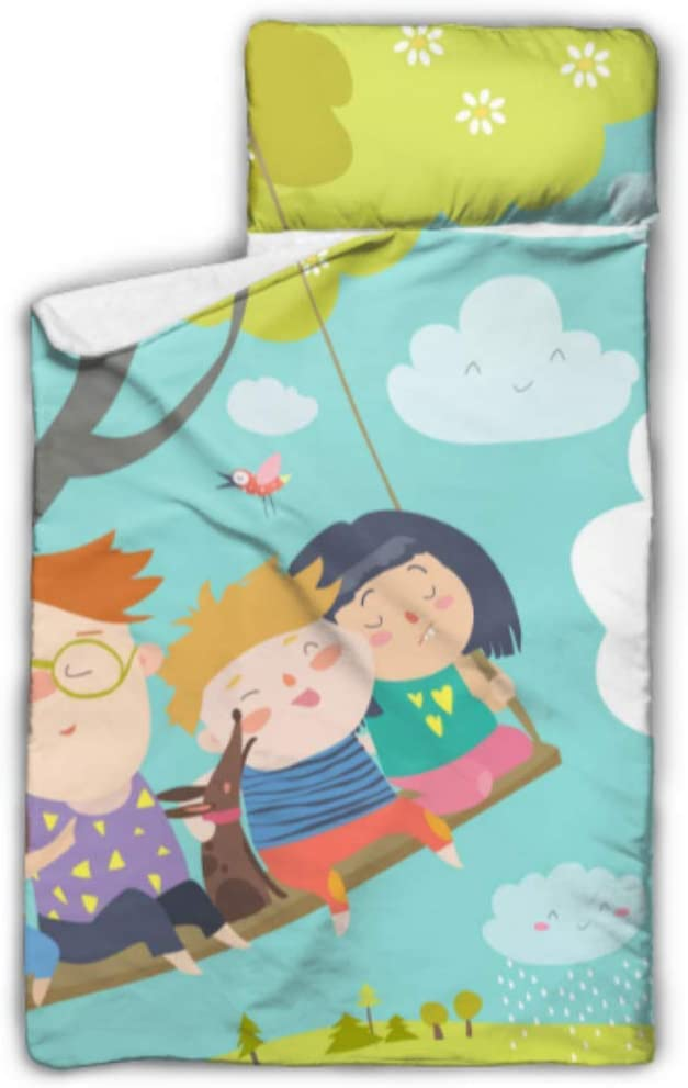 "Medium 54/"" x 20/"" Portable and Foldable Kids Happy Sleeping Bags Nappers with Pillow Happy Sleeping Bag for Boys Dragon Medium Happy Pillow /& Sleepy Sack"