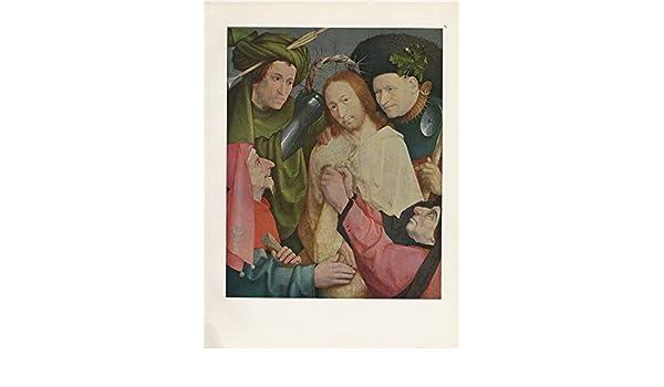 "1971 Vintage HIERONYMUS BOSCH /""ECCE HOMO #1/"" JESUS CHRIST COLOR Art Lithograph"