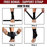 Ankle Brace for Foot Support and Plantar Fasciitis - Compression Ankle Sleeve for Achilles Tendonitis & Heel Spur - Reduce Swelling, Stabilizing Ligaments, Breathable & Com