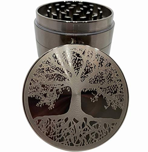 Tree of Life Etched Titanium Grinder - 4 Piece grinder Original Art 2.5