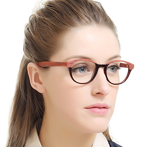 2c7b2f3c6148 OCCI CHIARI Fashion Optical Glasses Frame 90 s Metal Spring Hinges Bamboo Eyewear  Non-prescription Wood
