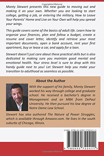 How To Leave Your Parent's Home & Live On Your Own: A Guide for Teenagers  and Young Adults: Montgomery Stewart: 9780692722411: Amazon.com: Books