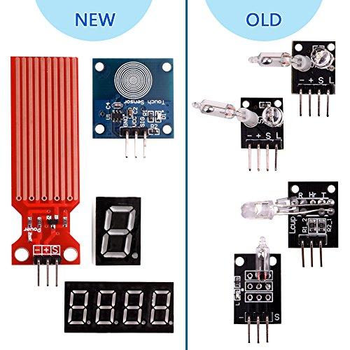 kuman K5-USFor Arduino Raspberry pi Sensor kit, 37 in 1 Robot Projects Starter Kits with Tutorials for Arduino UNO RPI 3 2 Model B B+ K5 by kuman (Image #2)