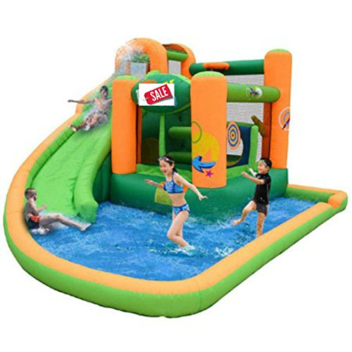 Inflatable Bounce House Water Slide Combo Heavy Duty Vinyl Material - Skroutz