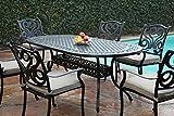 CBM Outdoor Cast Aluminum Patio Furniture 7 Pc Dining Set G CBM1290 For Sale