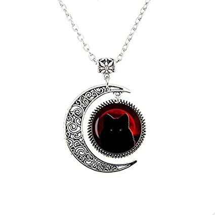 Amazon.com: Collar de lobo de la luna de sangre con colgante ...