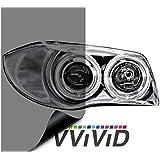 "VViViD Air-Tint Smoke Black Gloss Vinyl Headlight Foglight Transparent Tint Wrap Self-Adhesive (16"" x 48"", 2-roll Pack)"