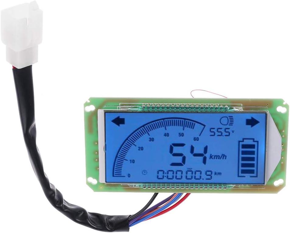 BASSK tachimetro voltmetro contachilometri per scooter elettrico cruscotto 48 V 60 V 72 V