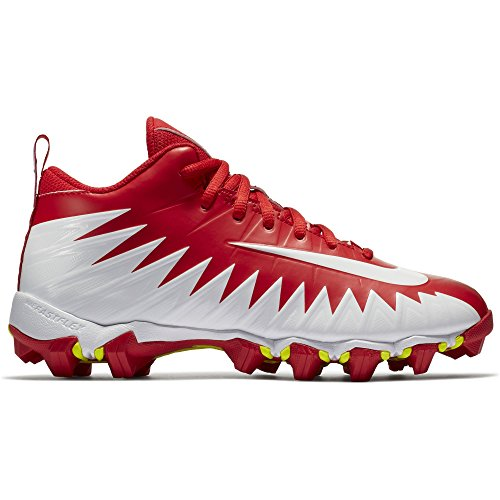 NIKE Boy's Alpha Menace Shark (GS) Football Cleat University Red/White/Team Red Size 3.5 M US
