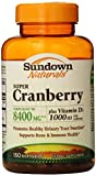 Sundown Naturals Super Cranberry 8400 mg Plus Vitamin D3 1000 IU Softgels 150 ea (Pack of 6)