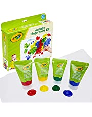 Crayola 81-1452 My First Finger Paint for Toddlers, Painting Paper Included, Gift