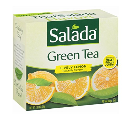 (Salada Lively Lemon Green Tea, 40 Teabags, 2.61 oz per box, (Pack of 3))