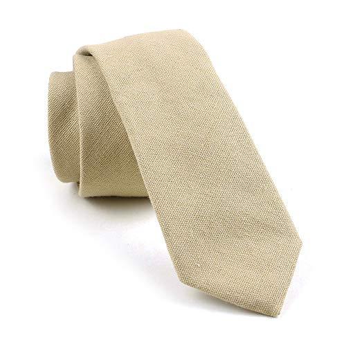 Tan Mens Tie - Men's Summer Cotton Tie in Beige Trendy Stylish Wedding Necktie for Bridal Party