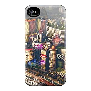 Fashion Tpu Case For Iphone 4/4s- Simcity Game Concept Art Defender Case Cover by lolosakes