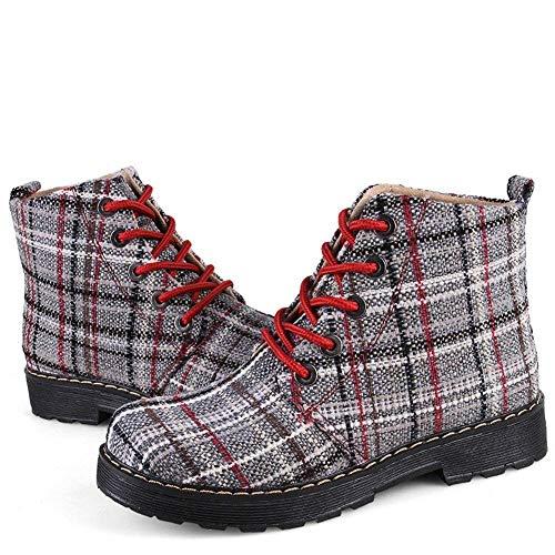 Eu Retro Para Mujer De 34 Cuadros Deed Zapatos Boots Martin HwRxxSzt