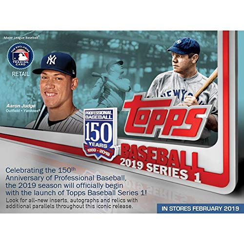 Topps 2019 Baseball Series 1 Trading Cards Relic Value Box (Retail Edition)