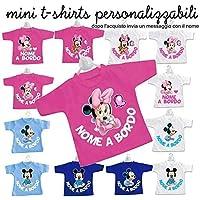 Mini t-shirt magliettina bimbo bimba auto nomi bordo bebè baby on board