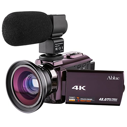 Ablue Camcorders, 4K Ultra-HD Portable 30FPS Wifi Digital Vi