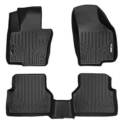 SMARTLINER Floor Mats 2 Row Liner Set Black for 2009-2017 Volkswagen Tiguan (Floor Mat Volkswagen Black)