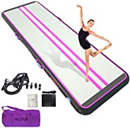 Air Track Inflatable Gymnastics Tumble Track Gym Mat 10ft 13ft 16ft 20ft for Toddler Adults, Gym Air Floor Yog