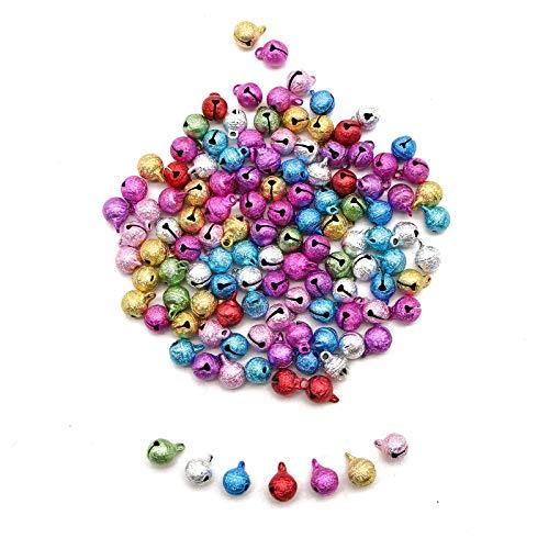 - WSSROGY Set of 120 Christmas Colored Craft Jingle Bells Metal Craft Jingle Bells for DIY Christmas Decoration Jewelry Making