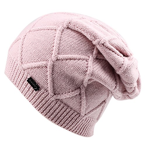 Winter Knit Hats For Women- Cashmere And Merino Wool Slouchy Beanie Skull Hat Caps FURTALK - Men Diamond Face Shaped