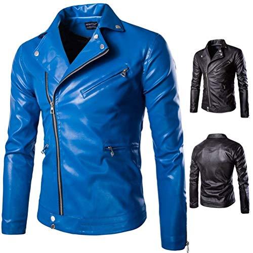 Manteau La Veste De Hommes À Blau Glissière En Bonne Al Mode Cuir Alessioy Plusieurs Vestes Pour Chaud Plein Fermeture Classique Air Moto fwqYvcC