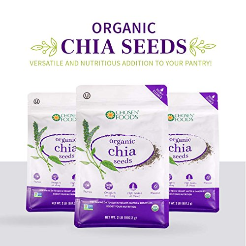 Chosen Foods Organic Chia Seeds, 2 Pound by Chosen Foods (Image #3)