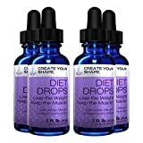Create Your Shape Diet Drops Best Seller - 4 Count Weight Lose Weight