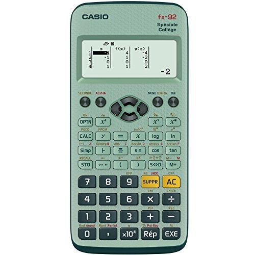 CASIO Calculatrice FX 92 Collège 2D+