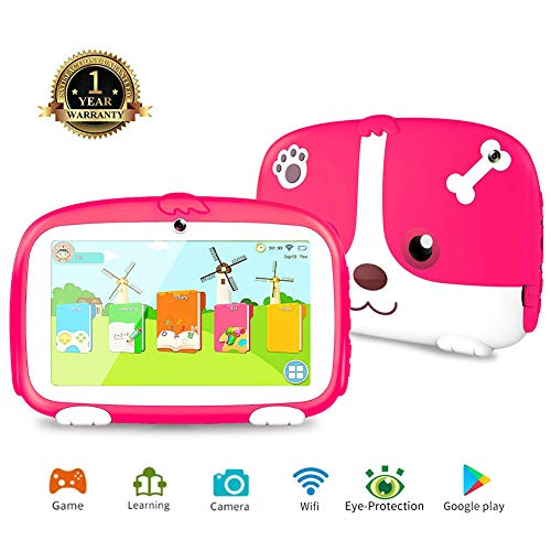 Tablet for Kids,7 inch Kids Tablet with WiFi Kids Mode Pre-Installed Learning Games Camera Parental Control Tablet for Children 1G+8G Android 6.0 Tablet Safety Eye Protection Screen (CTDD)