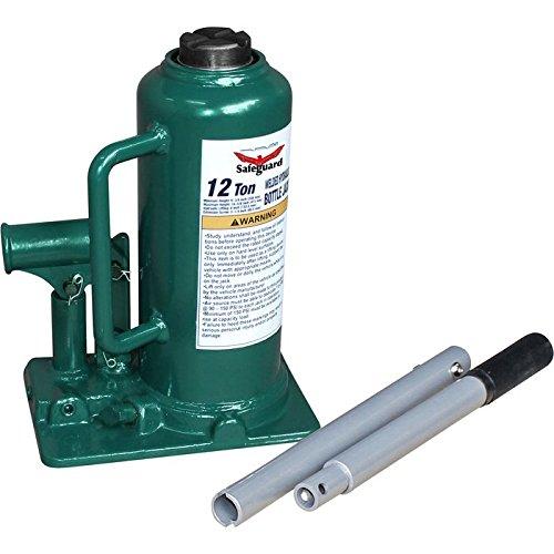 61120 12 Ton Welded Inline Bottle Jack, Green