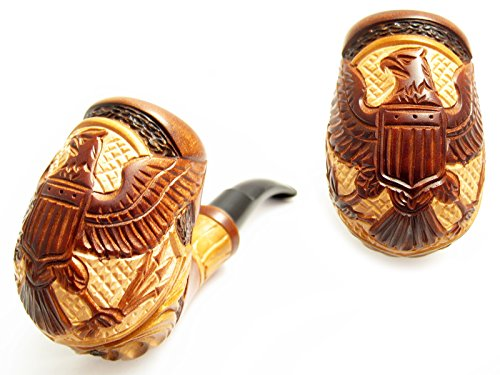 New-Fashion-American-Eagle-Tobacco-Smoking-Pipe-Carved-Pear-Root-Wood-Pouch-Gift