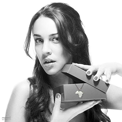 Endroit Exclusif Sicile Carte Pendentif avec brillant à votre Désir (Position au choix.)-avec Chaîne-en argent sterling 925, artisanat Allemande-Argent 925de bijoux