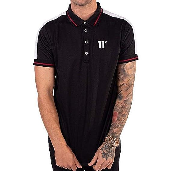 11 Degrees Eagle Polo Shirt in Black