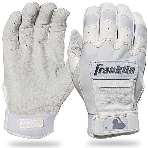 Franklin Sports CFX Pro Full Color Chrome Series Batting Gloves CFX Pro Full Color Chrome Batting Gloves, White, Youth Large