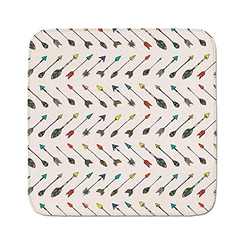 Cozy Seat Protector Pads Cushion Area Rug,Arrow Decor,Arrows Bright Colored Arrowheads Arrowtails Pattern Decorative Art Decorative,Easy to Use on Any Surface